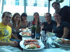 Florian and Olivier's going-away dinner