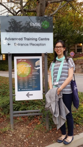 Edlyn at EMBL The complex life of mRNA 2014!