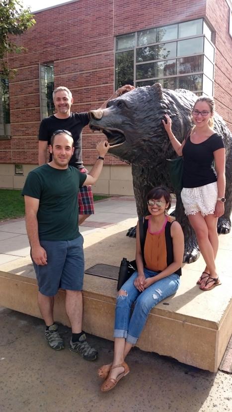C. elegans Meeting 2015 @ UCLA: Thomas, Mathieu, Ahilya & Alexandra