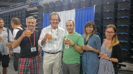 Hanging with Craig at the C. elegans Meeting 2015! Thomas, Craig, Mathieu, Ahilya & Alexandra