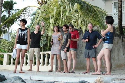 """20 years of microRNA Research Meeting"" Barbados 2014. Ahilya, Thomas, Vanessa Dumeaux, Ariel, Francois Major, Chris Hammell & Edlyn."